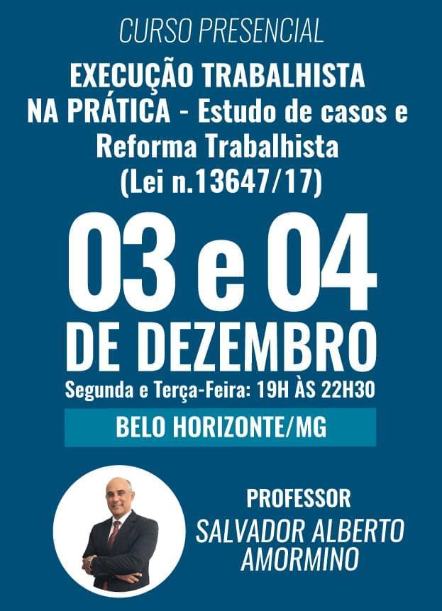 PRESENCIAL - 03 e 04/12/2018- BELO HORIZONTE / MG