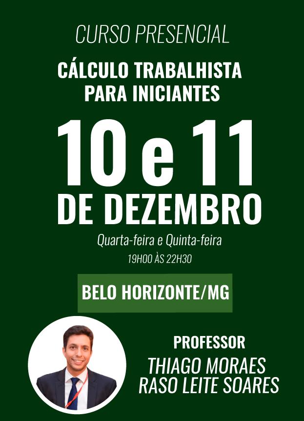 PRESENCIAL - 10 e 11/12/2018- BELO HORIZONTE / MG