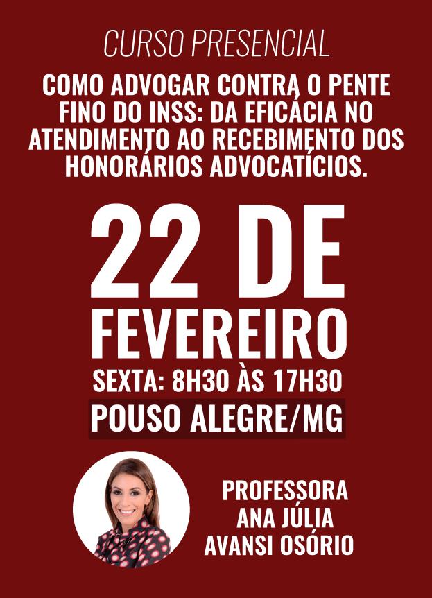 2019 - PRESENCIAL - 22/02/2019 - POUSO ALEGRE/MG
