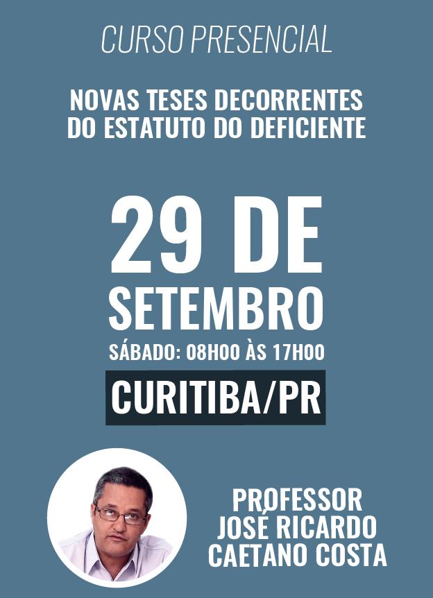 PRESENCIAL - 29/09/2018 - CURITIBA/PR