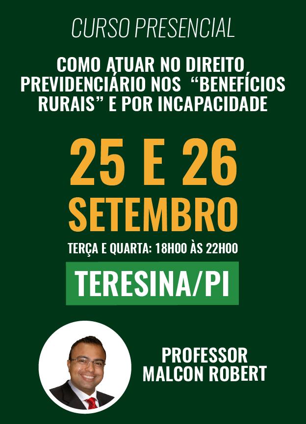 PRESENCIAL - 25 E 26/09/2018 - TERESINA/PI
