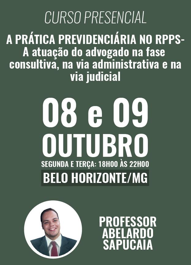 PRESENCIAL - 08 E 09/10/2018 - BH/MG