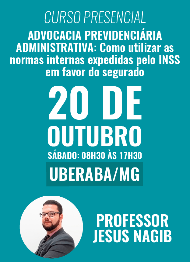 PRESENCIAL - 20/10/2018 - UBERABA/MG