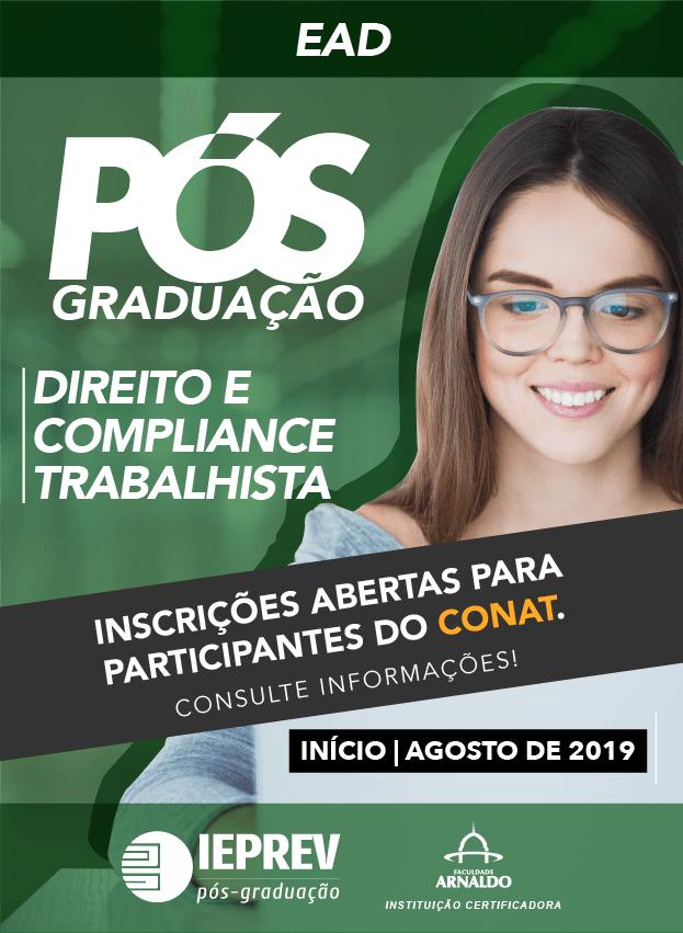 2019.2 - EAD - PÓS-GRADUAÇÃO / DIREITO E COMPLIANCE TRABALHISTA