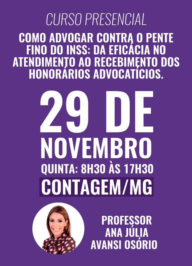 PRESENCIAL - 29/11/2018 - CONTAGEM/MG