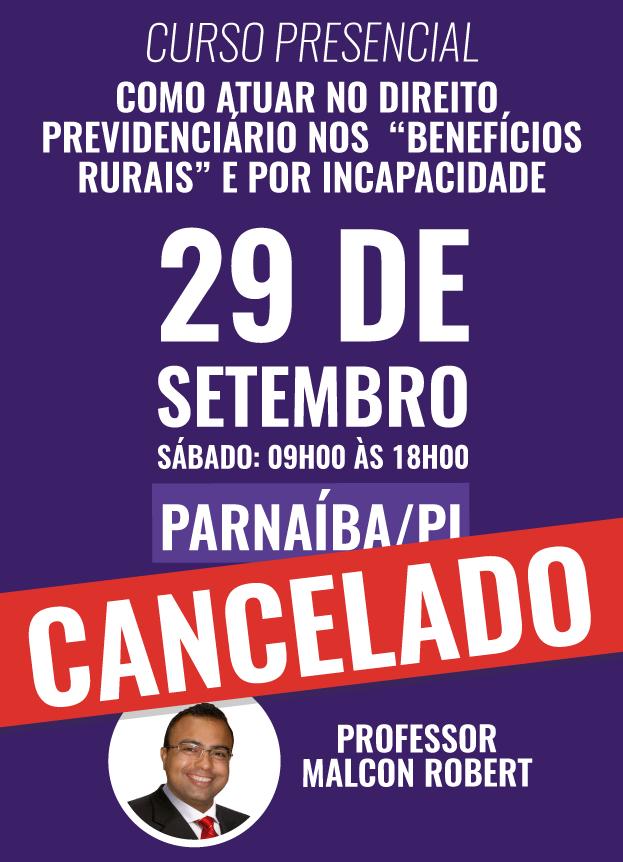 PRESENCIAL - 29/09/2018 - PARNAÍBA/PI - CANCELADO