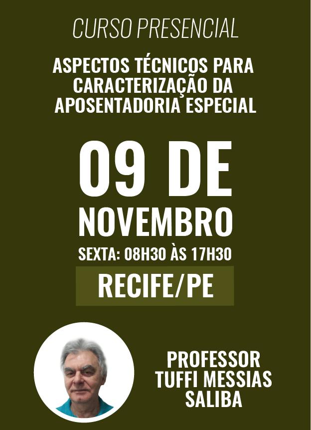 PRESENCIAL - 09/11/2018 - RECIFE/PE