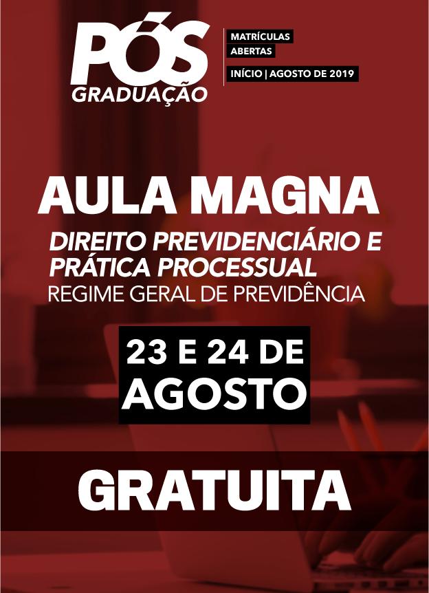 2019 PRESENCIAL - AULA MAGNA 2ºSEMESTRE / RGPS