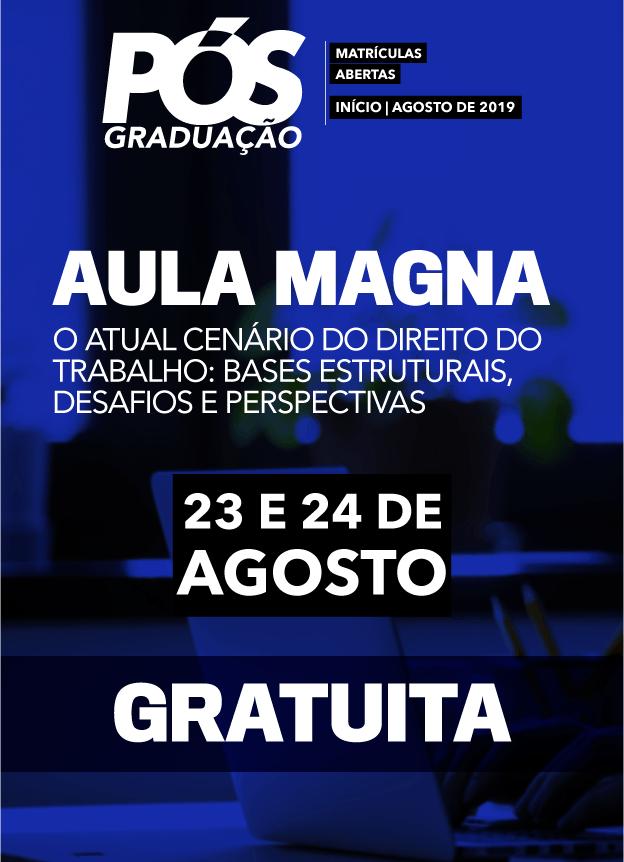 2019 PRESENCIAL - AULA MAGNA 2ºSEMESTRE / COMPLIANCE TRABALHISTA