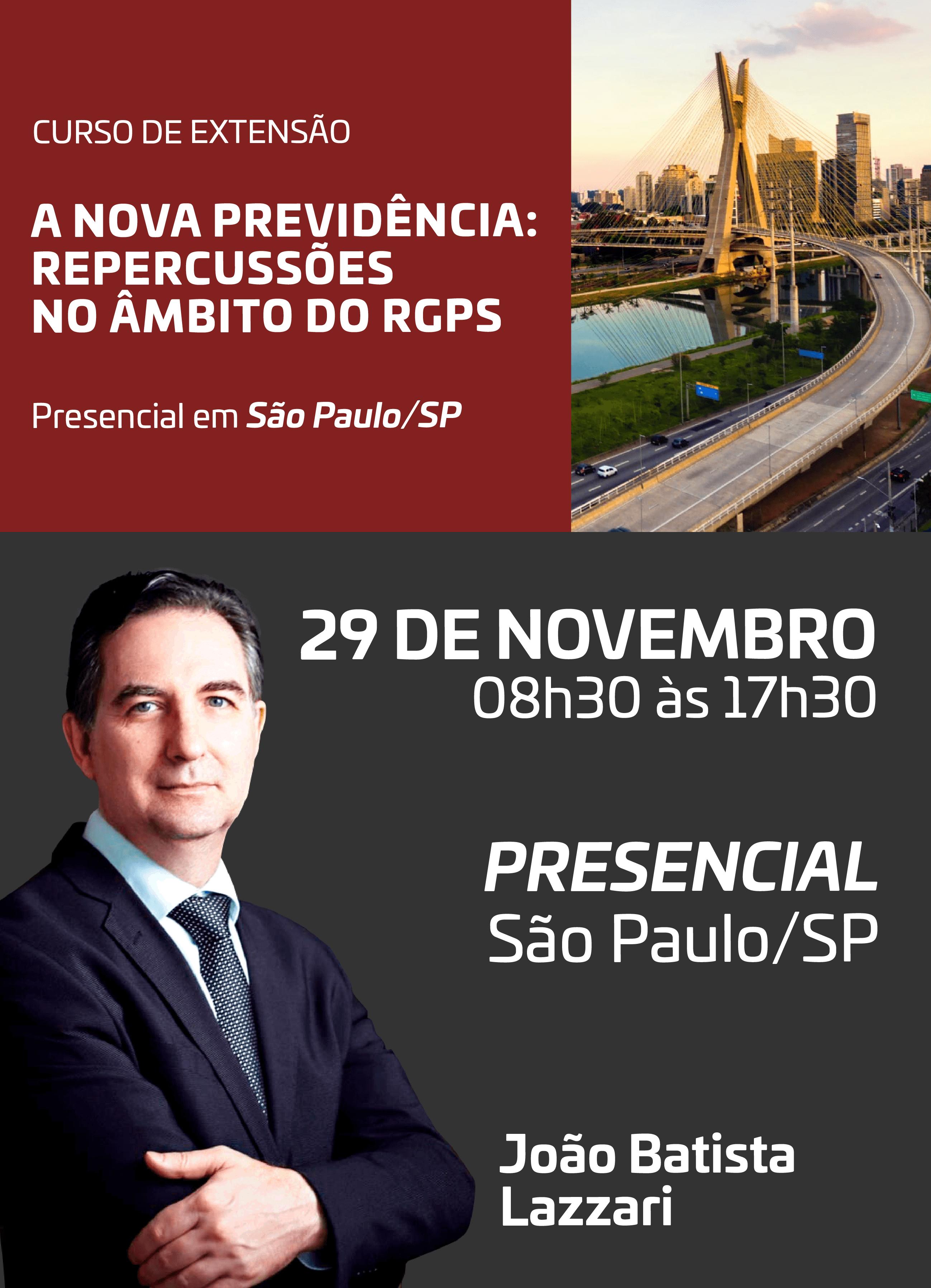 2019 - PRESENCIAL - 29/11/2019 - SÃO PAULO/SP