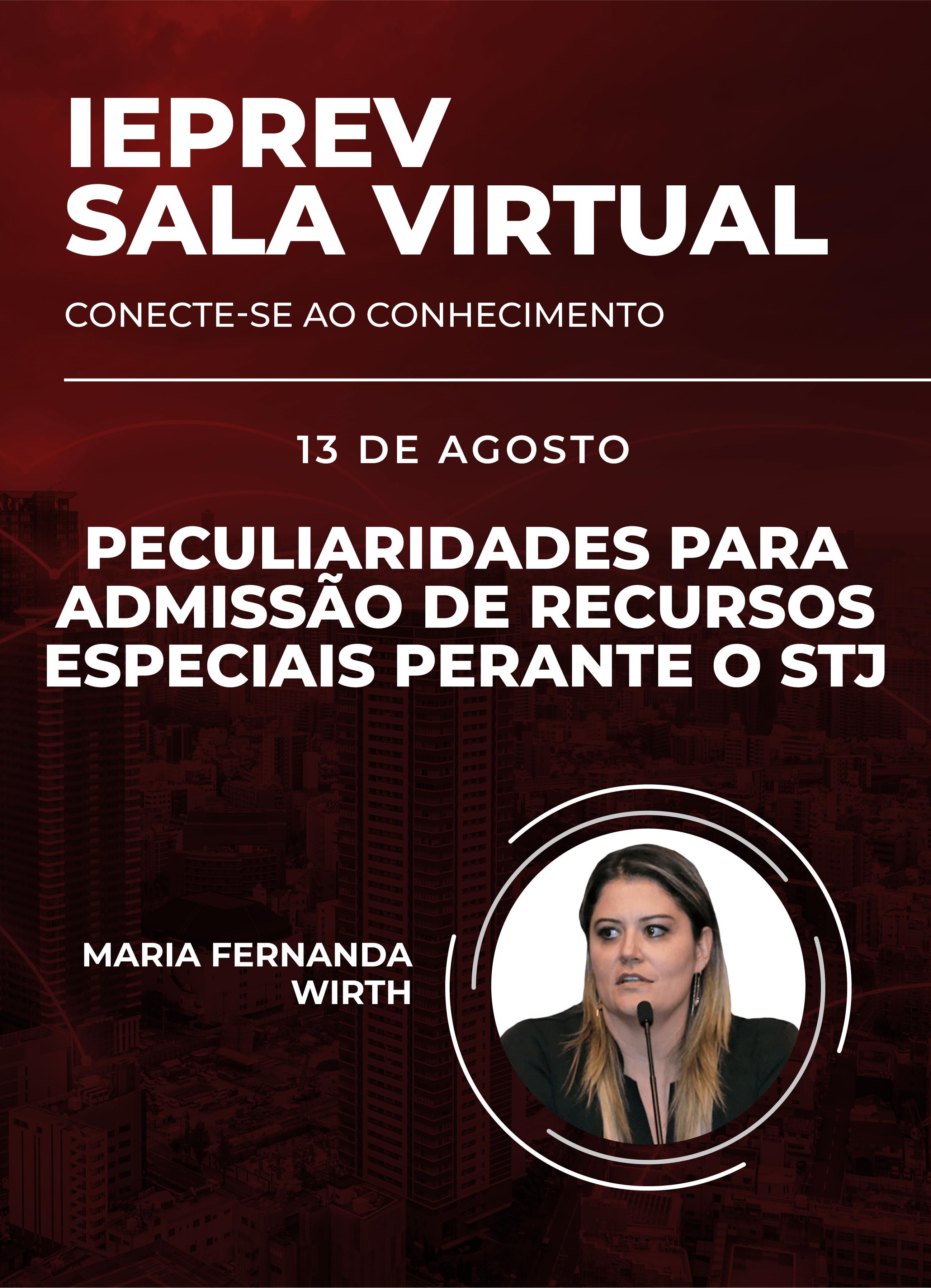 Sala Virtual - 13/08/2020   Maria Fernanda Wirth